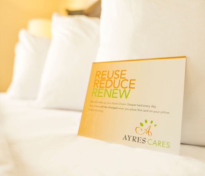 Ayres Hotel Orange Bed Green Initiatives