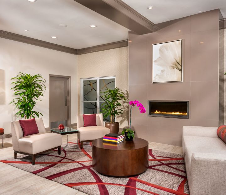 ALO Lobby Seating Area Fireplace
